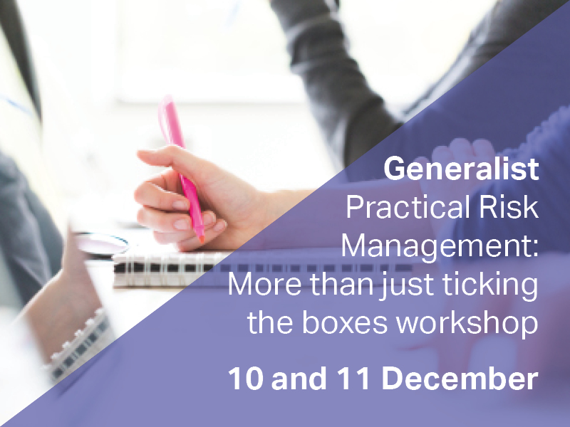 Generalist Practical Risk Management 10-11 December